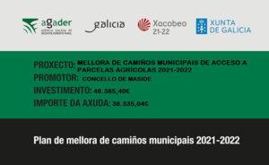 Plan de mellora de camiños municipais 2021-2022